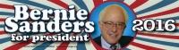 "Bernie Sanders for President 2016 - Bumper Sticker / Decal (10.5"" X 2.75"")"
