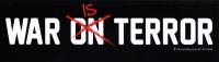"War is Terror - Bumper Sticker / Decal (10.5"" X 3"")"