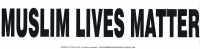 "Muslim Lives Matter - Bumper Sticker / Decal (10.5"" X 2.75"")"