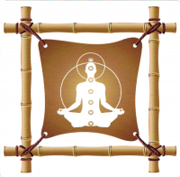 "Bamboo Meditation - Window Sticker / Decal (4.5"" X 4.5"")"