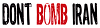 "LS36 - Don't Bomb Iran - Bumper Sticker / Decal (10.5"" X 3"")"