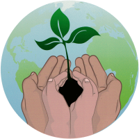 "Replant the Earth - Bumper Sticker / Decal (4.5"" Circular)"