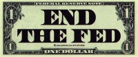 "LS38 - End the Fed - Bumper Sticker / Decal (8"" X 3"")"