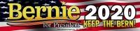 "Bernie for President 2020 Keep the Bern - Bumper Sticker / Decal (8.75"" X 2"")"