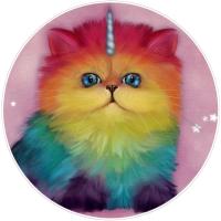 "Mewnicorn - Bumper Sticker / Decal (4.5"" Circular)"