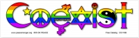 "Coexist Equal Rights - Bumper Sticker / Decal (10.5"" X 3"")"
