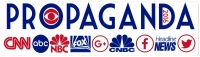 "Propaganda - Bumper Sticker / Decal (9"" X 2.5"")"