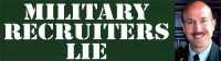 "LS40 - Military Recruiters Lie - Bumper Sticker / Decal (10.5"" X 3"")"
