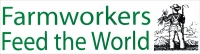 "Farmworkers Feed the World - Bumper Sticker / Decal (11.5"" X 3.25"")"