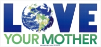 "Love Your Mother - Bumper Sticker / Decal (6.75"" X 3.25"")"