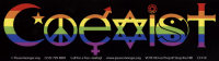 "Rainbow Coexist - Bumper Sticker / Decal (10.5"" X 3"")"
