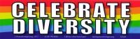 """Celebrate Diversity - Bumper Sticker / Decal (10.5"""" X 3"""")"""