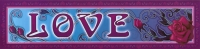 "Love - Bumper Sticker / Decal (11"" X 2.75"")"