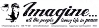 Imagine All the People Living Life in Peace - John Lennon - Bumper Sticker