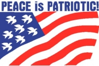 Peace is Patriotic - window sign poster