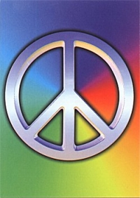 Rainbow Peace Sign - Postcard