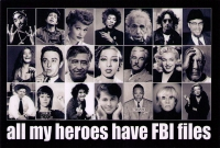 All My Heroes Have FBI Files - Postcard