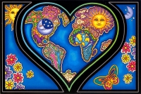 Heart and Earth - Postcard