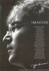 Imagine -John Lennon - Postcard