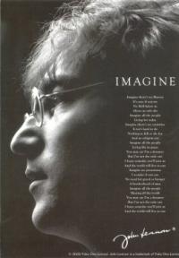 Imagine -John Lennon - Postcard