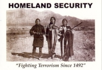 Homeland Security - Fighting Terrorism Since 1492 - Postcard