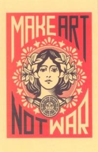 Make Art Not War - Postcards