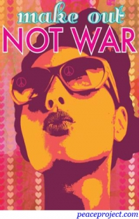 Make Out, Not War - Postcard