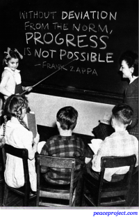 Without Deviation from the Norm, Progress is NOt Possible - Frank Zappa - Postca