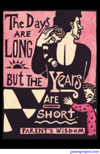 The Days are Long but the Years are Short - Postcard