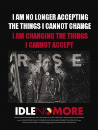 Idle No More - Postcard