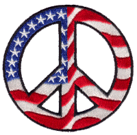 Patriotic Open Spoke Peace Sign - Patch