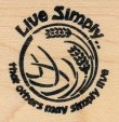 Live Simply That Others May Simply Live - Rubber Stamp