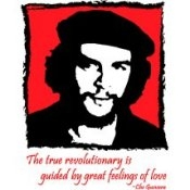 The True Revolutionary is Guided by Great Feelings of Love - Che Guavara (On Whi