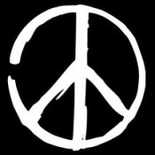 Peace Sign (On Black) - T-Shirt