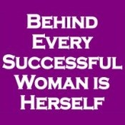 Behind Every Successful Woman Is Herself  (On Violet) - T-Shirt