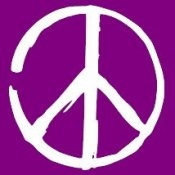 Peace Sign (On Violet) - T-Shirt