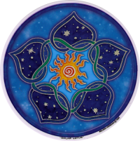 Solar Lotus - Window Sticker / Decal