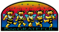"Bee Grateful - Window Sticker / Decal (6"" x 3.25"")"