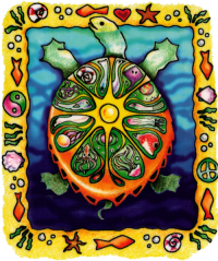 Sun Turtle - Window Sticker