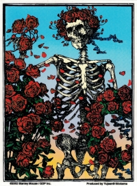 "Grateful Dead Skull and Roses - Window Sticker / Decal (4.25"" X 5.75"")"