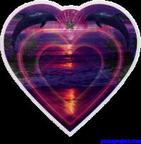 Heart Ocean Dreams - Window Sticker / Decal