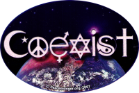 WA144 - Coexist - Window Sticker