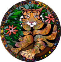 "Save the Tigers - Window Sticker / Decal (4.75"" X 4.75"")"