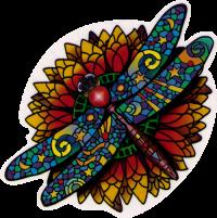 Celestial Dragonfly - Window Sticker