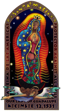 """Mother of Guadalupe - Window Sticker / Decal (3.25"""" X 6"""")"""