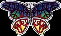Peace Love Butterfly - Window Sticker