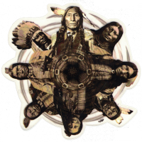 "Native Circle - Window Sticker /Decal (4.5"" Circular)"