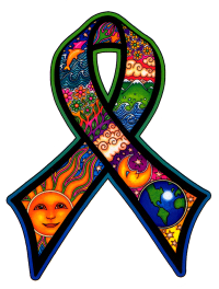 Earth Day Ribbon - Window Sticker