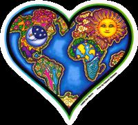 WA234 - Earth Heart - Window Sticker