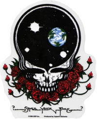 "Grateful Dead Space Your Face - Window Sticker / Decal (4.75"" X 5.75"")"